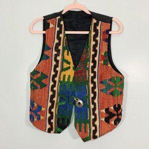 Vintage Matt Camron Vibrant Aztec Wool Blend Vest
